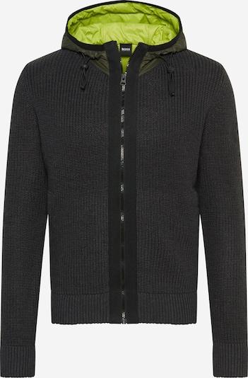 BOSS Gebreid vest 'Alachite' in de kleur Neongeel / Grijs / Groen, Productweergave