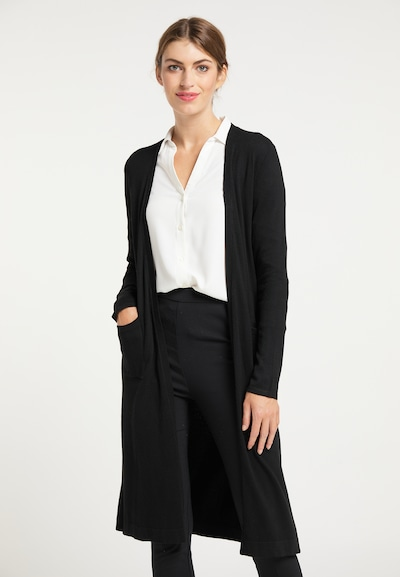 usha BLACK LABEL Cardigan in schwarz, Modelansicht