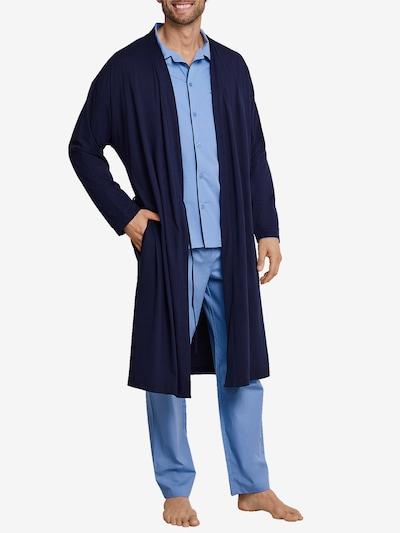 SEIDENSTICKER Peignoir court en bleu nuit, Vue avec modèle