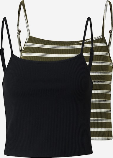 ONLY Top 'LARRA' in Olive / Black / White, Item view