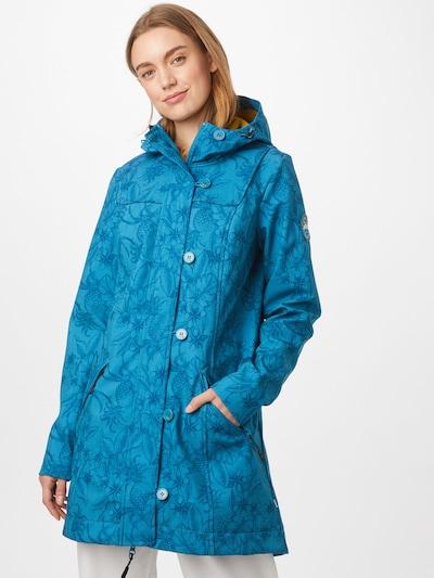 Blutsgeschwister Functional coat 'Wild Weather' in Blue / Yellow, View model