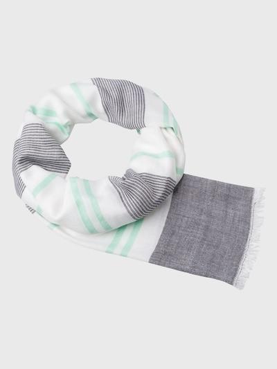 zero Tuch in mint / schwarz / weiß, Produktansicht