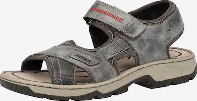 RIEKER Sandales en gris, Vue avec produit