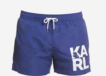 Shorts de bain Karl Lagerfeld en bleu