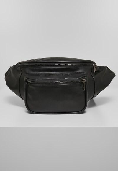 Urban Classics Heuptas ' Imitation Leather Double Zip Shoulder Bag ' in de kleur Zwart: Vooraanzicht