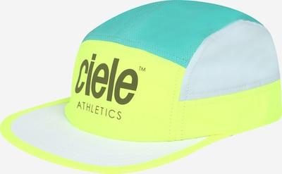Sportinė kepurė 'Voltaire' iš CIELE ATHLETICS, spalva – neoninė geltona / nefrito spalva / balta, Prekių apžvalga