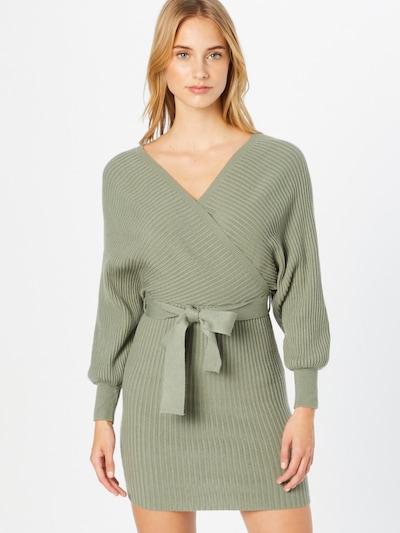 Parallel Lines Kleid in mint, Modelansicht
