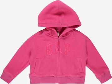 Jachetă  fleece de la GAP pe roz
