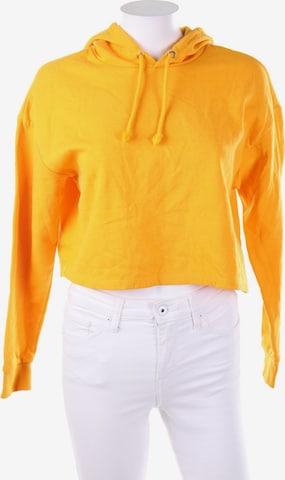 H&M Sweatshirt & Zip-Up Hoodie in S in Yellow