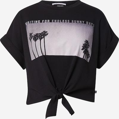 Q/S by s.Oliver Shirt in grau / schwarz / weiß, Produktansicht