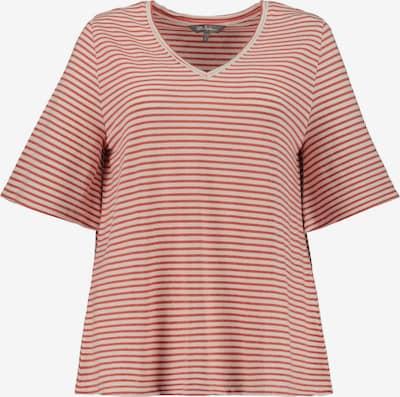 Ulla Popken Shirt in beige / rot, Produktansicht