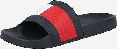TOMMY HILFIGER Zapatos abiertos en azul noche / rojo / blanco, Vista del producto