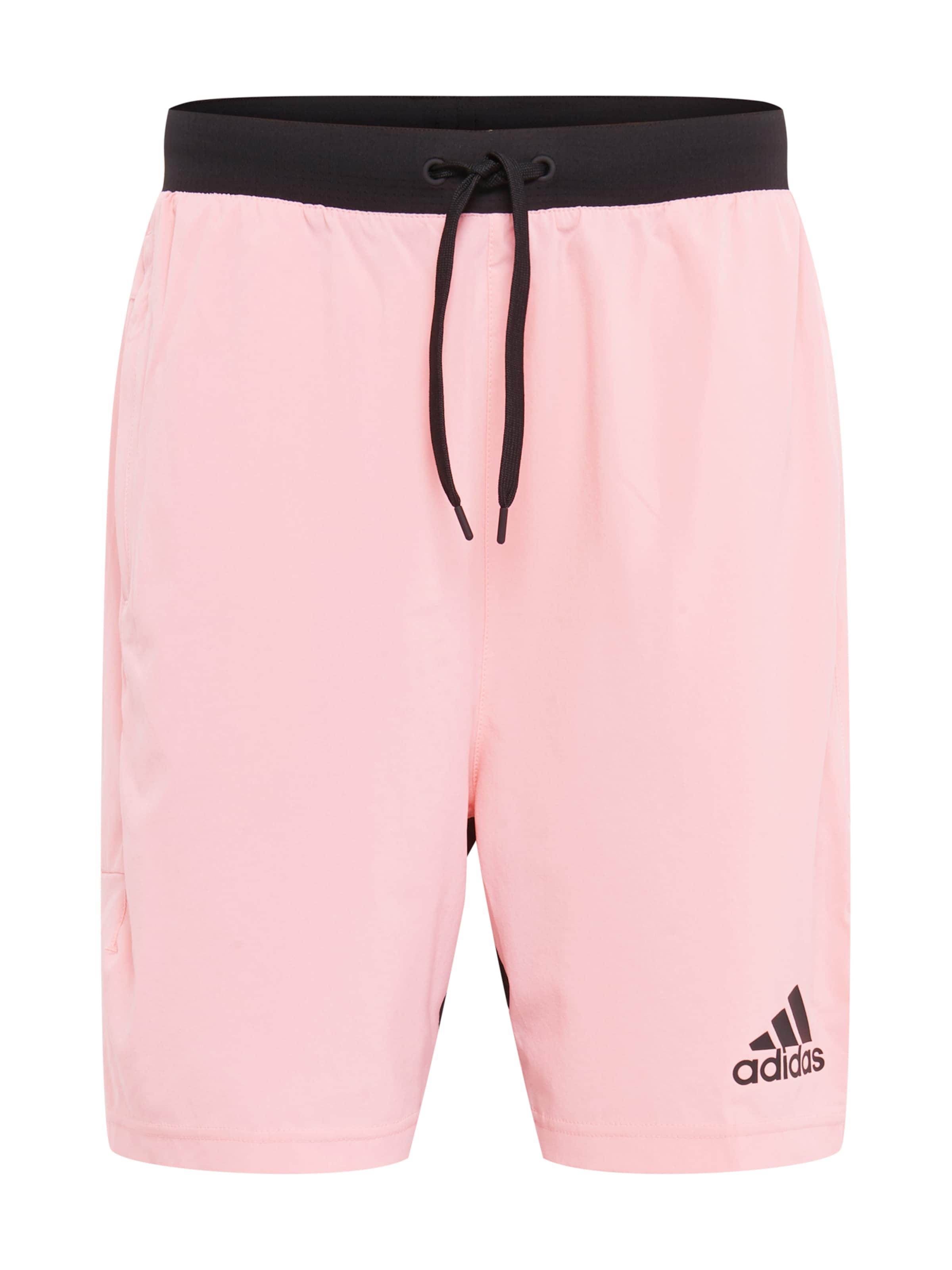 ADIDAS PERFORMANCE Sportbyxa i rosa / svart