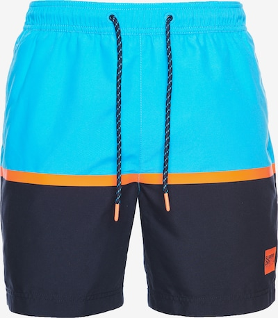 Superdry Shorts de bain en aqua / bleu foncé / orange, Vue avec produit