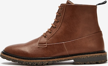NINE TO FIVE Lace-Up Ankle Boots 'Miru' in Brown