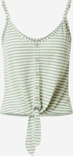 Hailys Top 'Pipa' in grün / weiß, Produktansicht