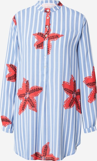 LIEBLINGSSTÜCK Bluse 'Rati' in rauchblau / rot / weiß, Produktansicht
