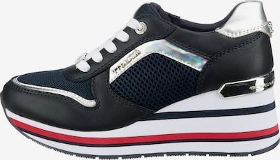 TOM TAILOR DENIM Sneaker in dunkelblau / rot / schwarz / weiß, Produktansicht