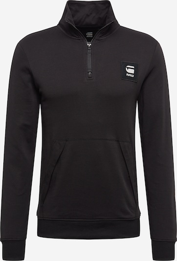 G-Star RAW Sweatshirt in de kleur Zwart / Wit, Productweergave