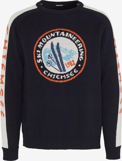 Sportinio tipo megztinis 'NEMJUNG' iš CHIEMSEE , spalva - šviesiai mėlyna / tamsiai oranžinė / juoda / balta, Prekių apžvalga