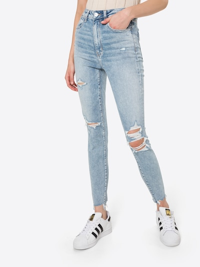 American Eagle Jeans in de kleur Lichtblauw, Modelweergave
