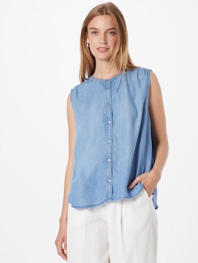 TOM TAILOR Blūze, krāsa - zils džinss, Modeļa skats