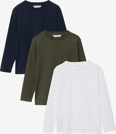 MANGO KIDS Shirt in de kleur Navy / Kaki / Wit, Productweergave