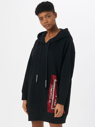 Just Cavalli Haljina u siva / crvena / crna, Prikaz modela