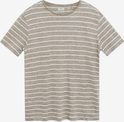 MANGO MAN T-shirt 'limar' in braun / weiß, Produktansicht