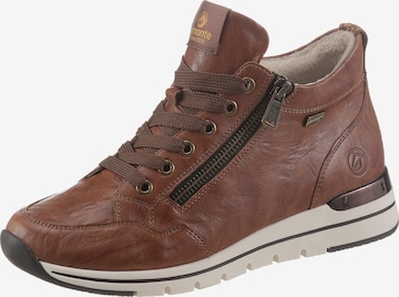 REMONTE High-Top Sneakers in Brown