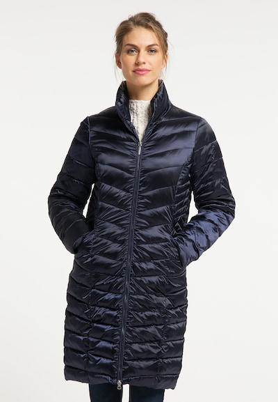 Usha Wintermantel in navy, Modelansicht