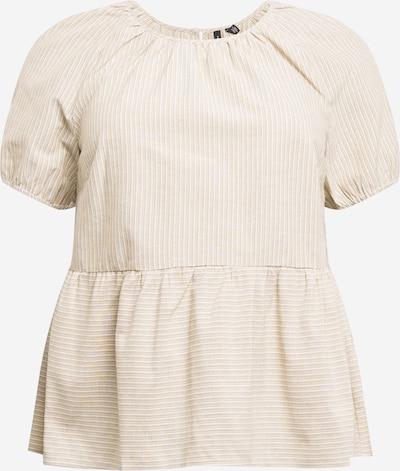 Vero Moda Curve Bluza | bež / temno bež barva, Prikaz izdelka