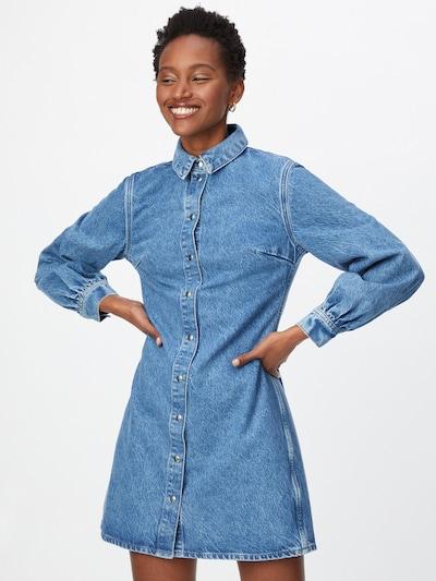 Samsoe Samsoe Robe-chemise 'Moonstone' en bleu denim, Vue avec modèle