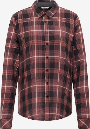 MUSTANG Bluse in pastellrot / schwarz / weiß, Produktansicht