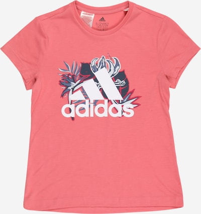 ADIDAS PERFORMANCE Sportshirt in grau / dunkelgrau / pitaya / weiß, Produktansicht