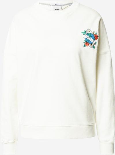 QUIKSILVER Sweatshirt 'Boxy' in de kleur Gemengde kleuren / Wit, Productweergave