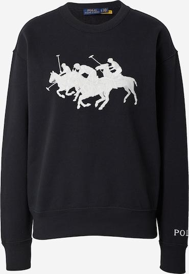 Polo Ralph Lauren Sweatshirt 'HEARD' in de kleur Zwart / Wit, Productweergave