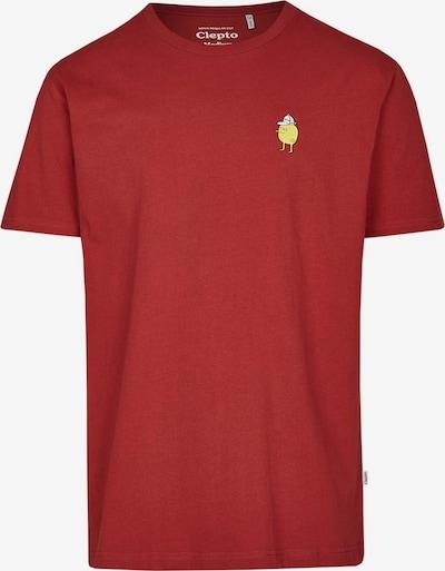 Cleptomanicx T-Shirt Zitrone im klassischen Design in rot, Produktansicht