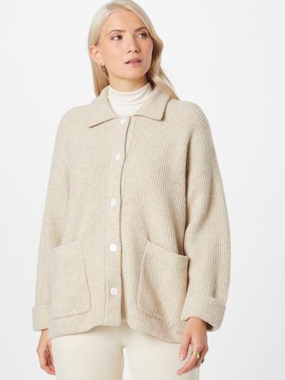 AMERICAN VINTAGE Cardigan 'Domy' en beige, Vue avec modèle