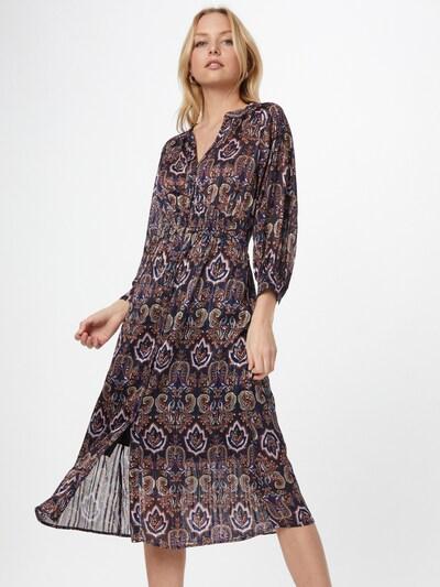 Freebird Košilové šaty - žlutá / fialová / lilek / oranžová, Model/ka