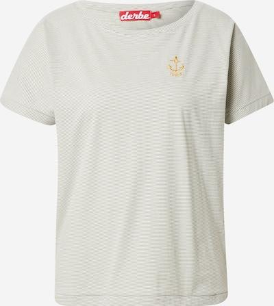 Tricou 'Anna' Derbe pe maro / alb, Vizualizare produs