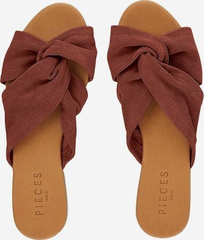 PIECES Sandales en marron châtaigne, Vue avec produit
