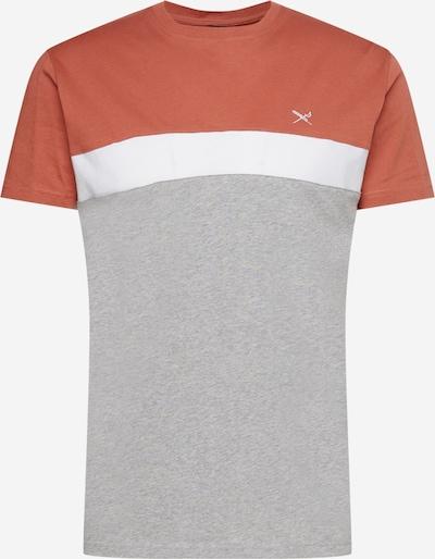 Tricou 'Court' Iriedaily pe gri / roșu ruginiu / alb, Vizualizare produs