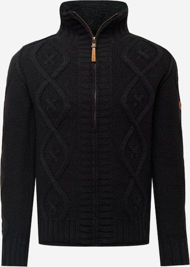 INDICODE Vestes en maille 'Kurt' en noir, Vue avec produit