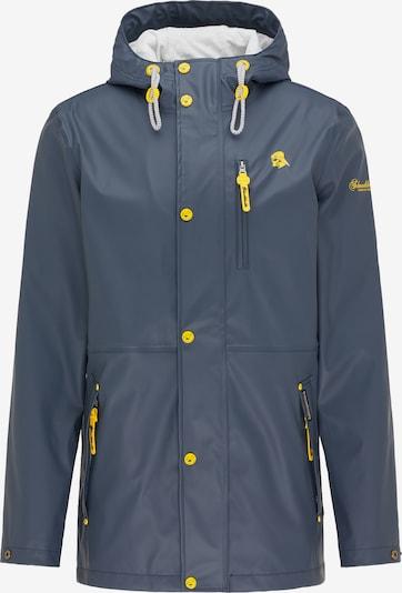 Schmuddelwedda Funktionsjacke in taubenblau / gelb, Produktansicht