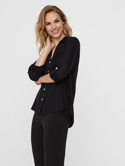 VERO MODA Bluse 'Bumpy' in schwarz, Modelansicht