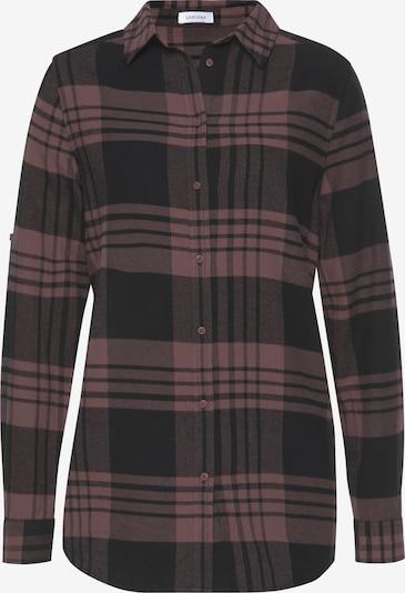 LASCANA Bluse in mauve / schwarz, Produktansicht