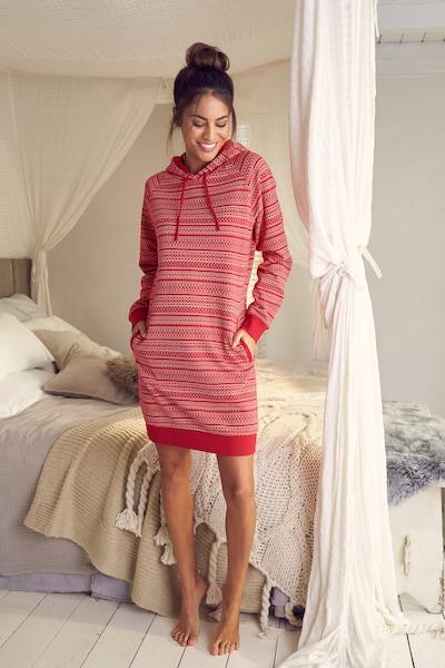 s.Oliver Sweatkleid in rot / weiß, Modelansicht