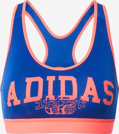ADIDAS PERFORMANCE Sport-BH in blau / lachs, Produktansicht