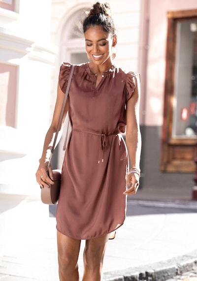 LASCANA Robe en chocolat, Vue avec modèle